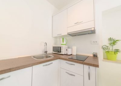 Sea Pearl Studio Apartment Olive kitchen